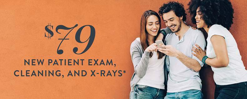 $79 New Patient Exam, Cleaning & X‑Rays*