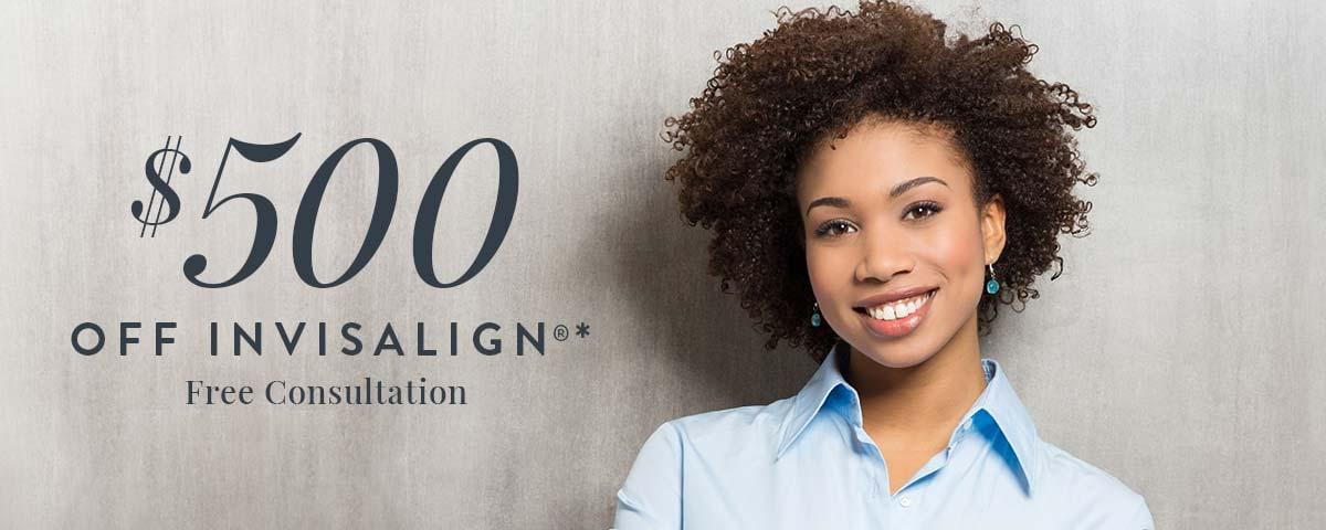 $500 OFF Invisalign® & Free Consultation*
