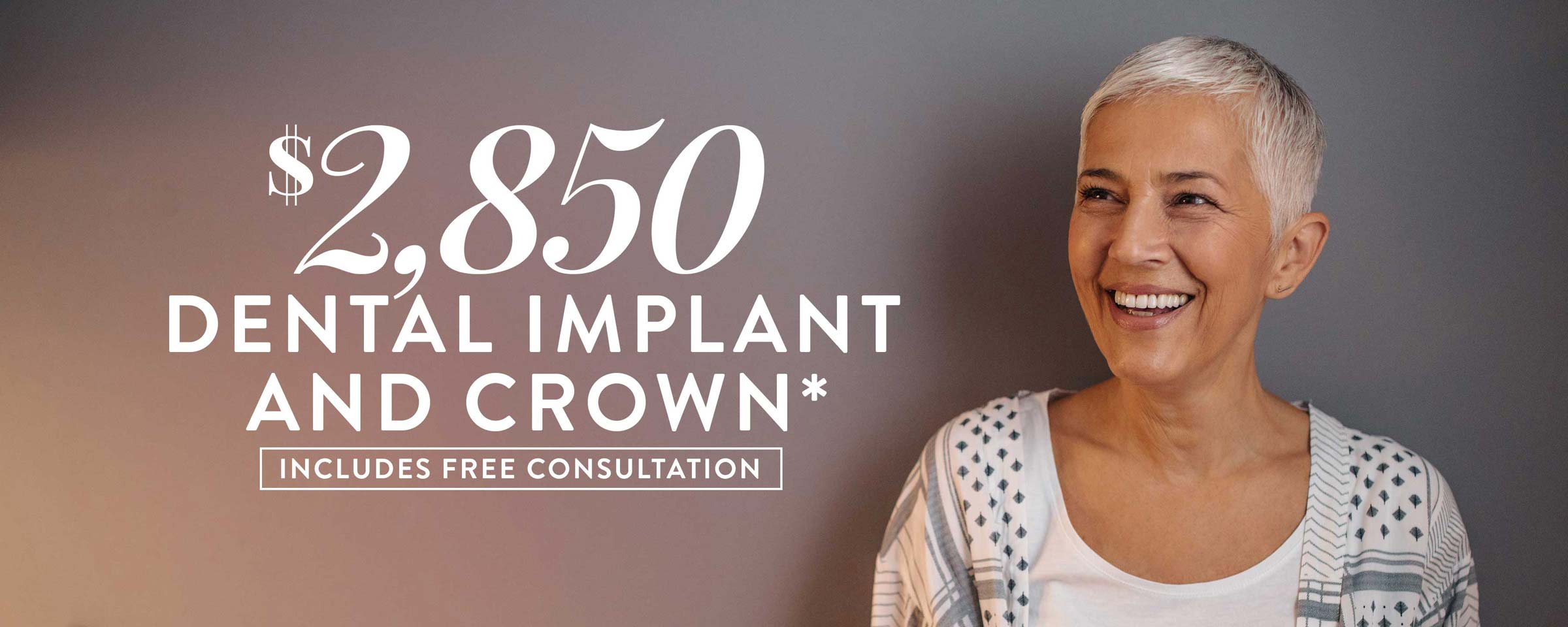 Dental Implant & Crown Only $2,850*